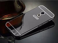 Металлический бампер с акриловой вставкой с зеркальным покрытием для Meizu Pro 6