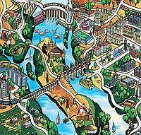 Разработка сувенирной туристической карты