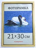 Фоторамка,  пластиковая,  15*21, А5,  рамка для фото, сертификатов, дипломов, грамот,1511-99