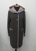 Пальто женское  Л-555 темное кашемир