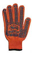 Перчатка  уплотненная с ПВХ покрытием оранж.573 (10\200 шт)