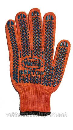 Перчатка  уплотненная с ПВХ покрытием оранж.573 (10\200 шт), фото 2