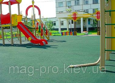 Бесшовные резиновые покрытия для детских площадок (толщина 16 мм)