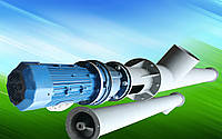 Шнековый транспортёр для цемента 270 мм. длинна 12 м. 30 т/ч двигатель 11 кВт. мотор редуктор перо 4 мм.