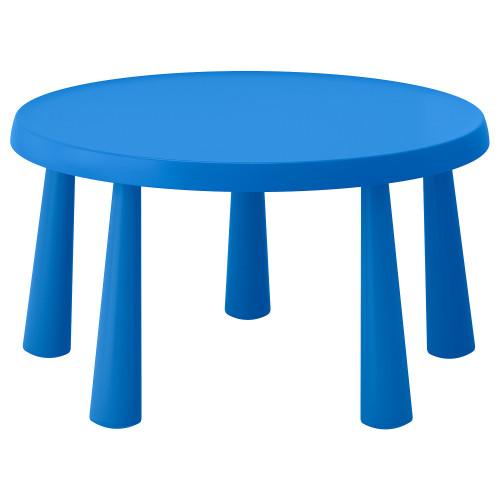 МАММУТ Стол детский, д/дома/улицы синий, круглый 85 см, 90365180, IKEA, ИКЕА, MAMMUT