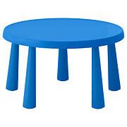 МАММУТ Стіл дитячий, д/будинку/вулиці синій, круглий 85 см, 90365180, IKEA, ІКЕА, MAMMUT