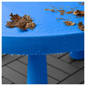 МАММУТ Стол детский, д/дома/улицы синий, круглый 85 см, 90365180, IKEA, ИКЕА, MAMMUT, фото 2