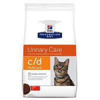 Hill's Prescription Diet c/d Feline Multicare -лечебный корм с курицей для поддержки мочевыводящих путей 1,5КГ