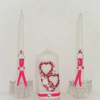Свечи свадебные. Набор Два сердца.