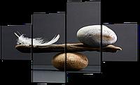 Модульная картина Равновесие Нетканый материал, 106x60