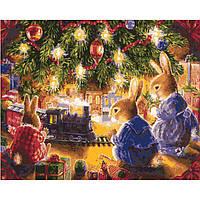 Картина по номерам Животные - Рождественская сказка КНО2452