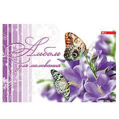 Альбом для рисования для девочек 12 л. обложка цветная, мелованный  картон, блок офсет 110 г/м2, микс