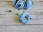 """Бутоньєрка """"Піон"""" 5 см голубий, фото 2"""