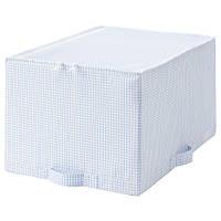 СТУК Сумка для хранения, белый/синий, 34x51x28 см, 90374472, IKEA, ИКЕА, STUK