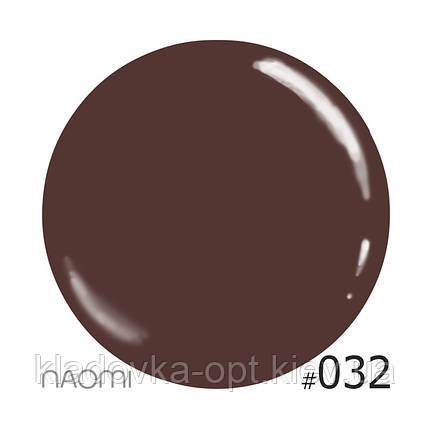 Декоративный лак Naomi 032 (шоколадный с розовым микроблеском), 12 мл, фото 2
