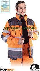 Куртка зимова робоча чоловіча сигнальна (спецодяг утеплена) LH-FMNWX-J PSB