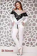 Женский спортивный костюм с пайеткой на кофте 75242