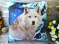 Подушка  волк , 38 см * 38 см