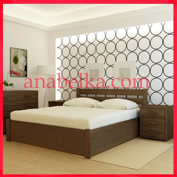 Кровать деревянная Франкфурт с подъёмным механизмом  (Анабель)