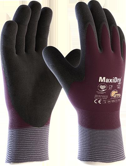 Зимние утепленные защитные перчатки от масел и жидкостей  MaxiDry® Zero™ 56-451