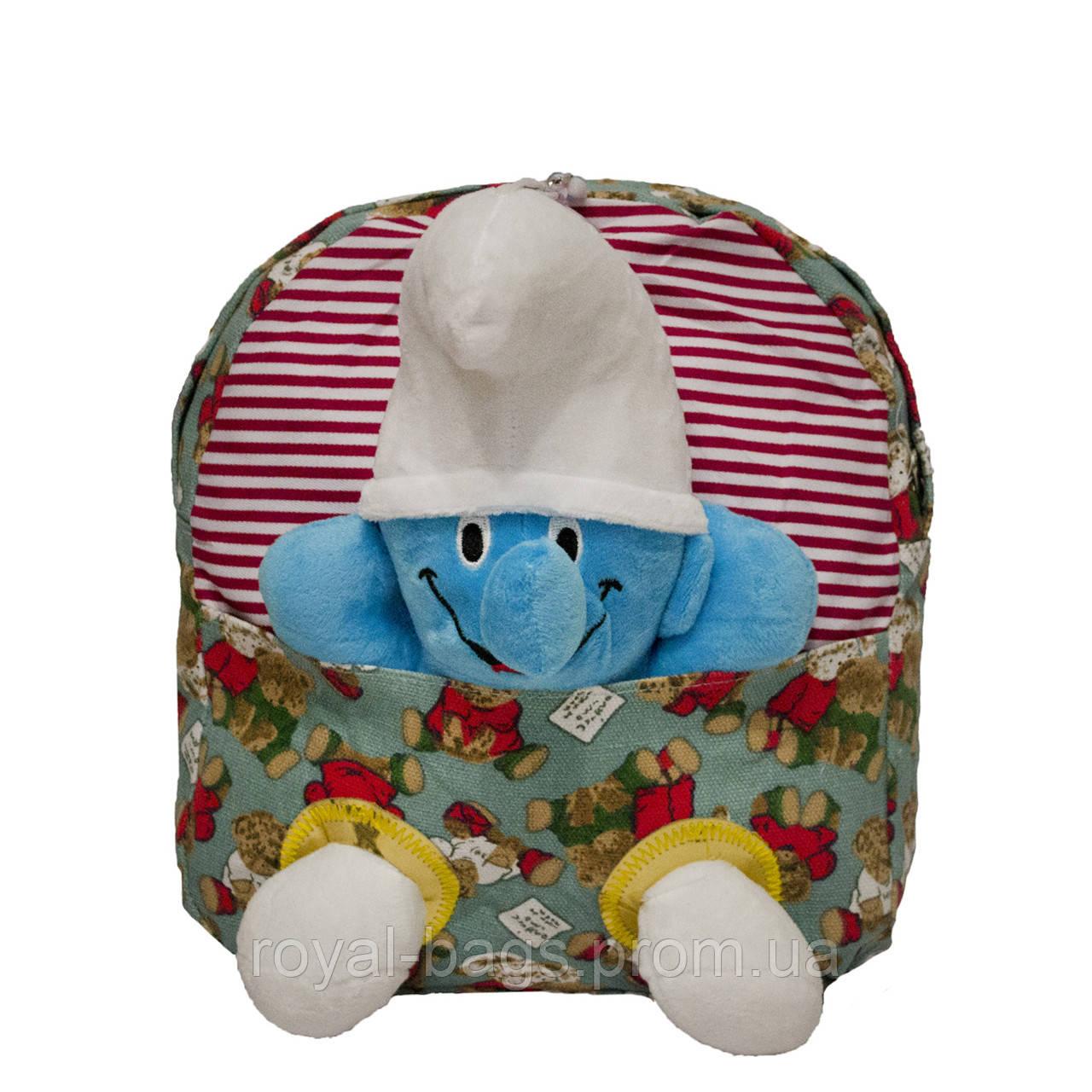 Рюкзак с игрушкой Смурфик 3 Цвета Голубой