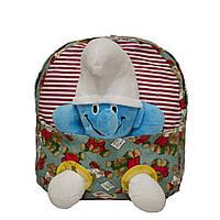 Рюкзак с игрушкой Смурфик 3 Цвета Голубой, фото 1