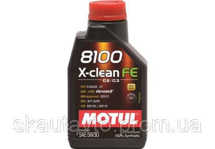 Масло MOTUL 8100 X-CLEAN FE 5W-30 1L - Склад-магазин в Сумах