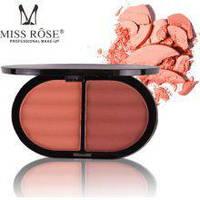 Румяна для лица матовые 2х цветные Miss Rose