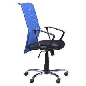 Кресло АЭРО HB сиденье Сетка черная, Неаполь N-20/спинка Сетка синяя TM AMF