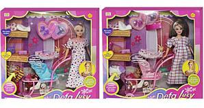 Кукла Defa 8049 с коляской и ребенком