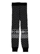 """Детские шерстяные гамаши (лосины, леггинсы) """"Снежинка"""" - цвет черный, на рост 92 - 98 см, фото 3"""