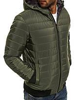 Мужская куртка J.Style с капюшоном оливковая, фото 2