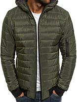 Мужская куртка J.Style с капюшоном оливковая, фото 3