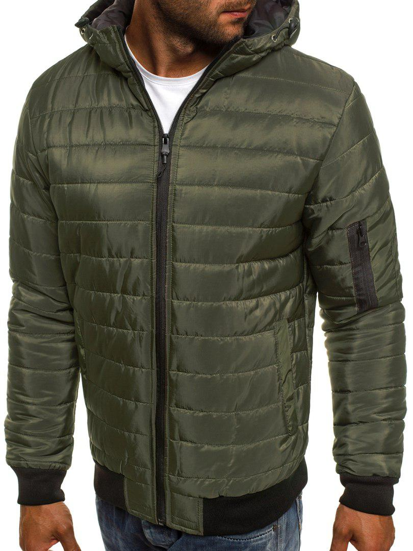 Мужская куртка J.Style с капюшоном оливковая