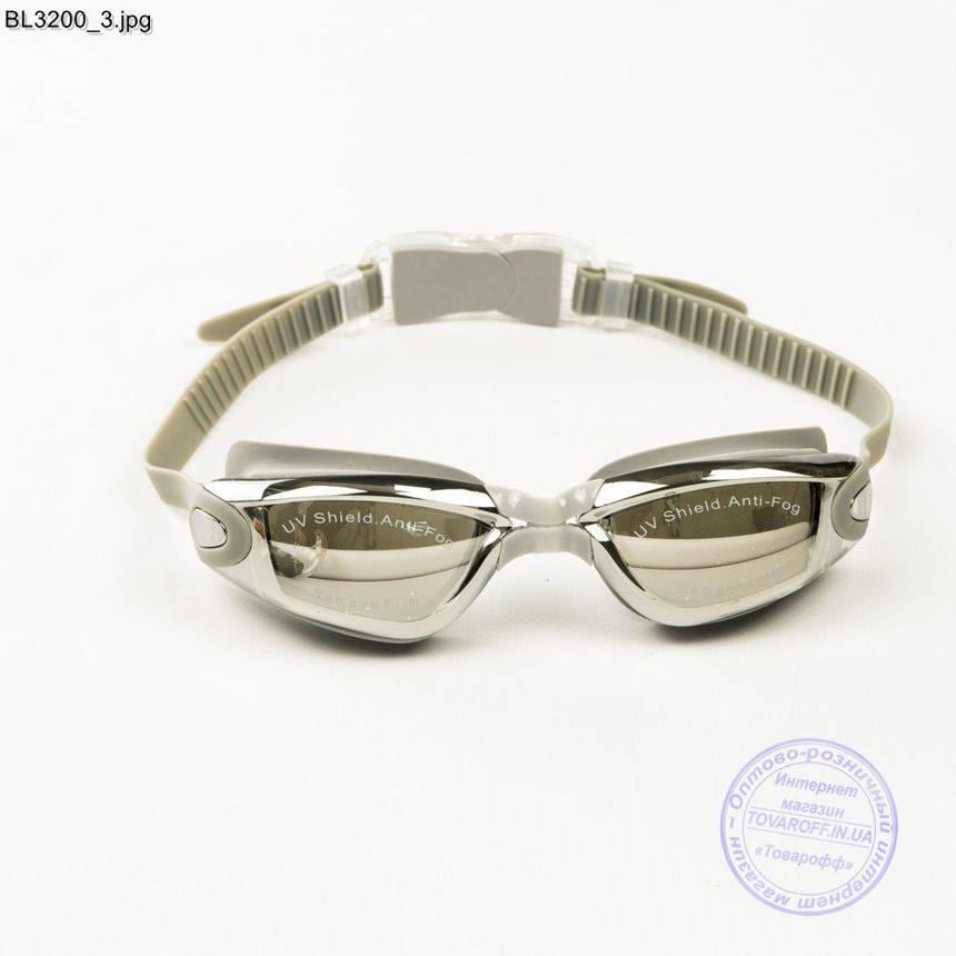 Качественные очки для плавания - Серые - BL3200, фото 2