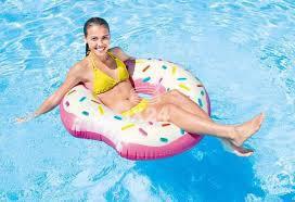 Надувной Круг 107см Надкушенный Пончик Intex 56265