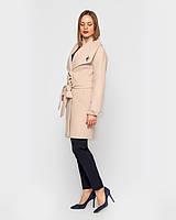Женское пальто Леди, на пояске 42 -52 рр беж