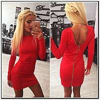Платье на молнии Anett  красное   (код 022)