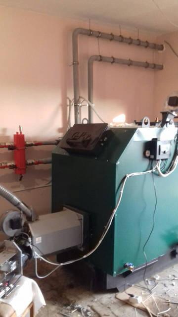 Котел GEFEST PROFI P 150 кВт + Горелка ECO PALNIK UNI MAX 150 кВт WOODHEAT