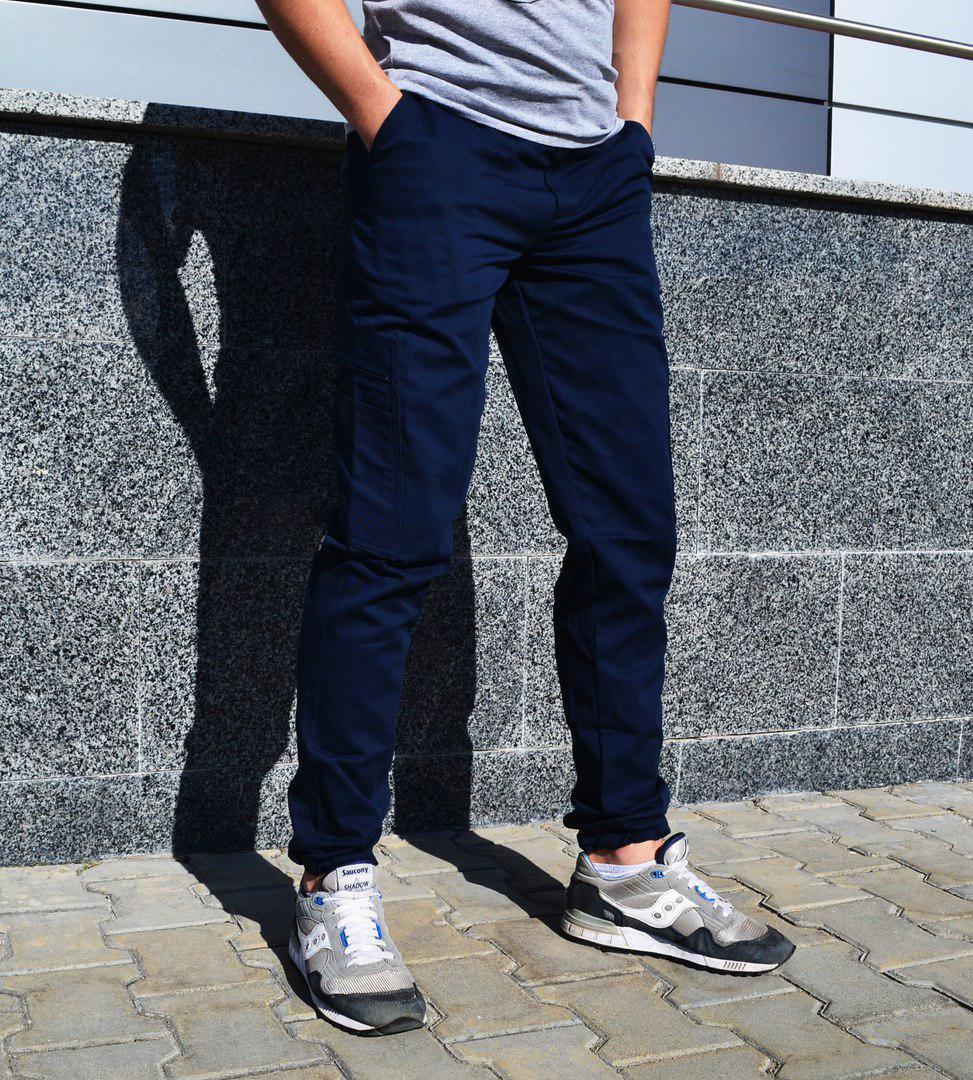 4b0c212b673 Мужские карго брюки ТУР Titan темно-синие на манжетах внизу -  Интернет-магазин