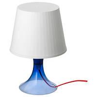 ЛАМПАН Лампа настольная, синяя, 00356401, IKEA, ИКЕА, LAMPAN