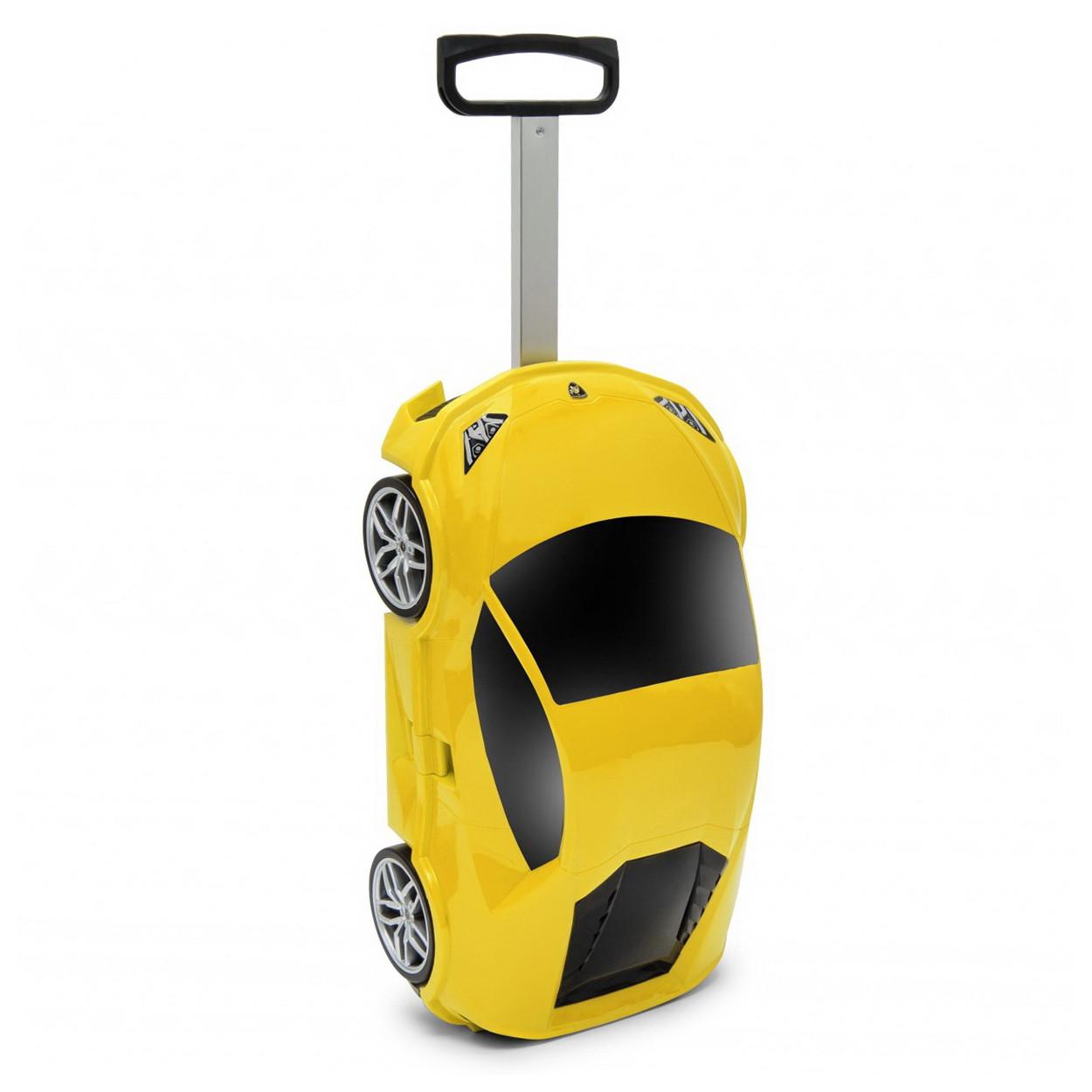 Чемодан на колёсах машинка Lamborghini Huracan жёлтый, «Ridaz» (91002W-Yellow)