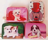 Детские кошельки на молнии для девочек с щенками 12,5*9*2 см
