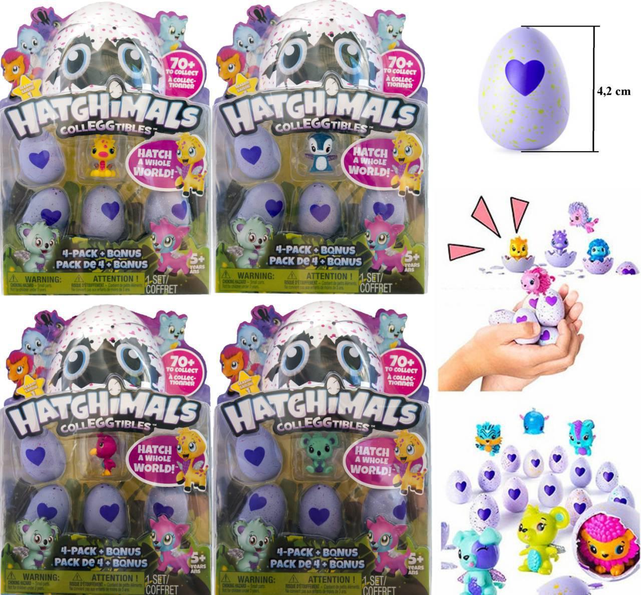 Игрушка Hatchimals Хэтчималс Хетчималс 4 яйца в наборе, 5 персонажей, яйца Хетчималс