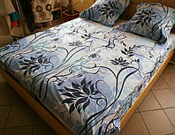 Комплект постельного белья бязь Голд Мечта на сером Двуспальный