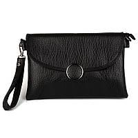 """Черная женская сумочка клатч """"Кнопка"""" (Bagira 861), фото 1"""