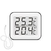 Цифровой термометр Т-10 (температура внутри и наружная) с выносным датчиком 1,5м
