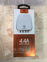 Сетевое зарядное устройство 4404, 4 USB, 4.4A, зарядное для телефона