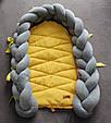 Кокон-трансформер для новорожденного со съёмной косичкой (цвет на выбор), фото 5