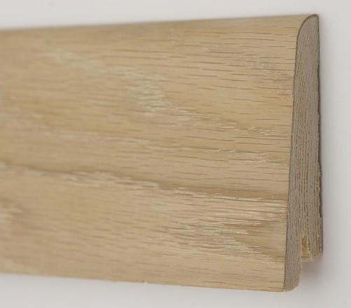 Плинтус шпонированый Дуб шлифованный ( без покрытия)